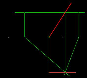 построить линию пересечения плоскостей