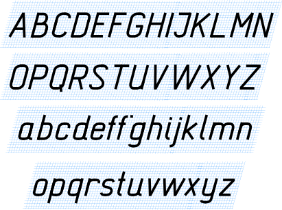 образец сетки для чертежного шрифта